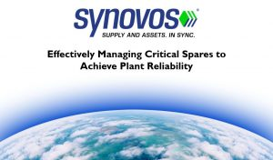 MRO Storeroom Management: Effectively managing critical spares to achieve plant reliability